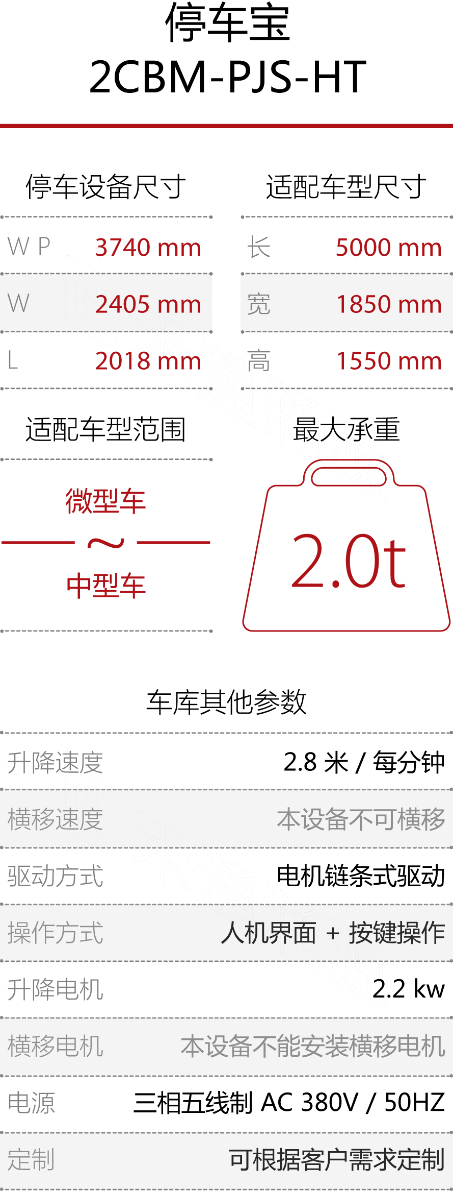 htw_灵兔-四柱停车宝S-技术参数