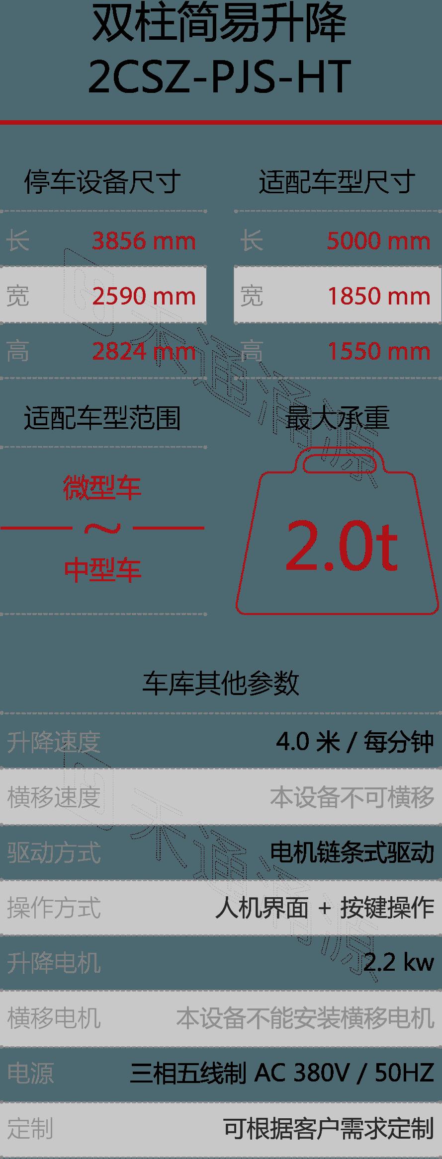 htw_灵兔-双柱停车宝-技术参数S