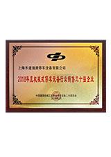 禾通涌源2018年度销售三十强企业