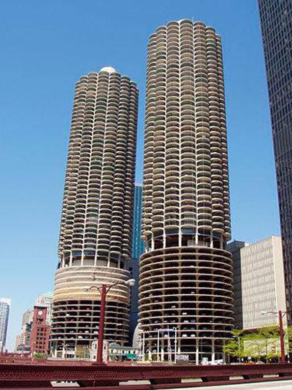 美国芝加哥马里纳城市车库