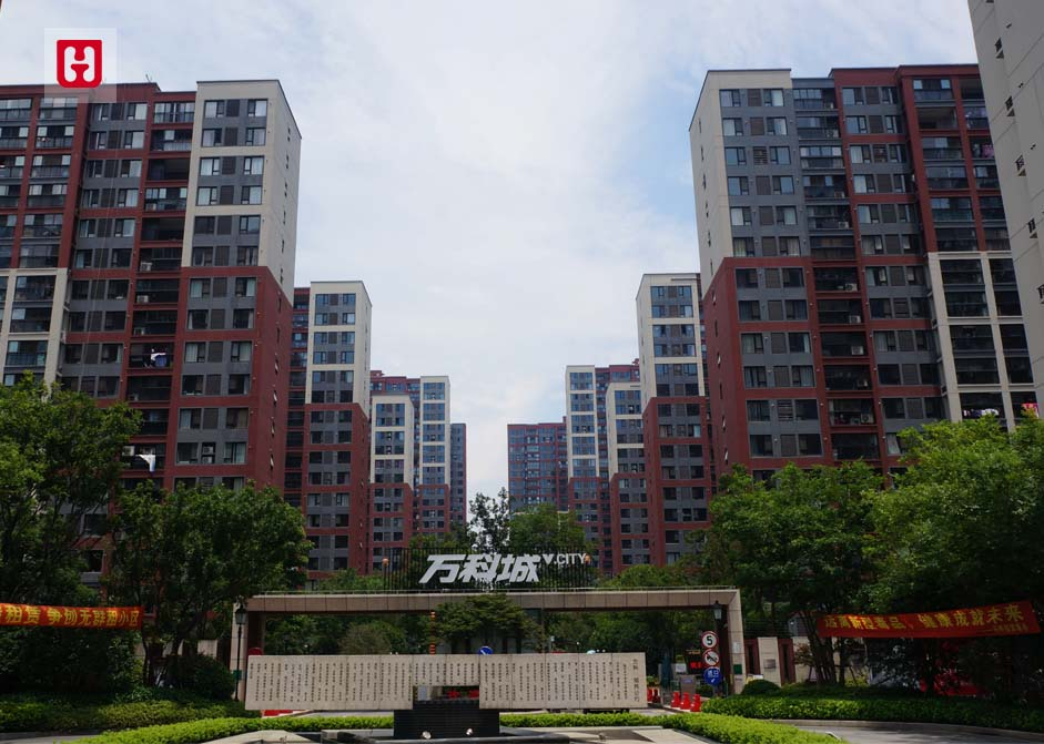 上海市万科旗忠万科城门头照大模板