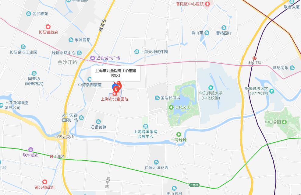 上海市儿童医院地图